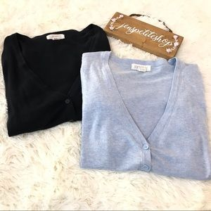 forever21 sweater light blue & black